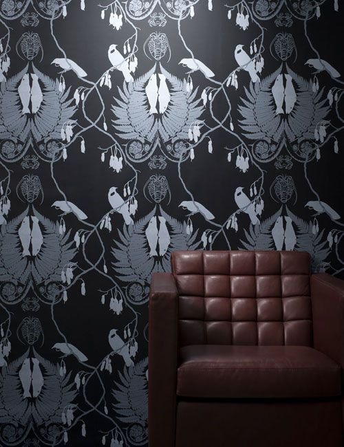 PaperHands hand made screen printed wall paper New zealand NZ made using premium waterbased solvent free inks designer wallpaper