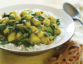 Potato and spinach masala