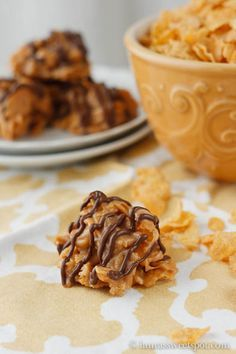Peanut Butter Corn Flake Balls - ready in under 15 mins.