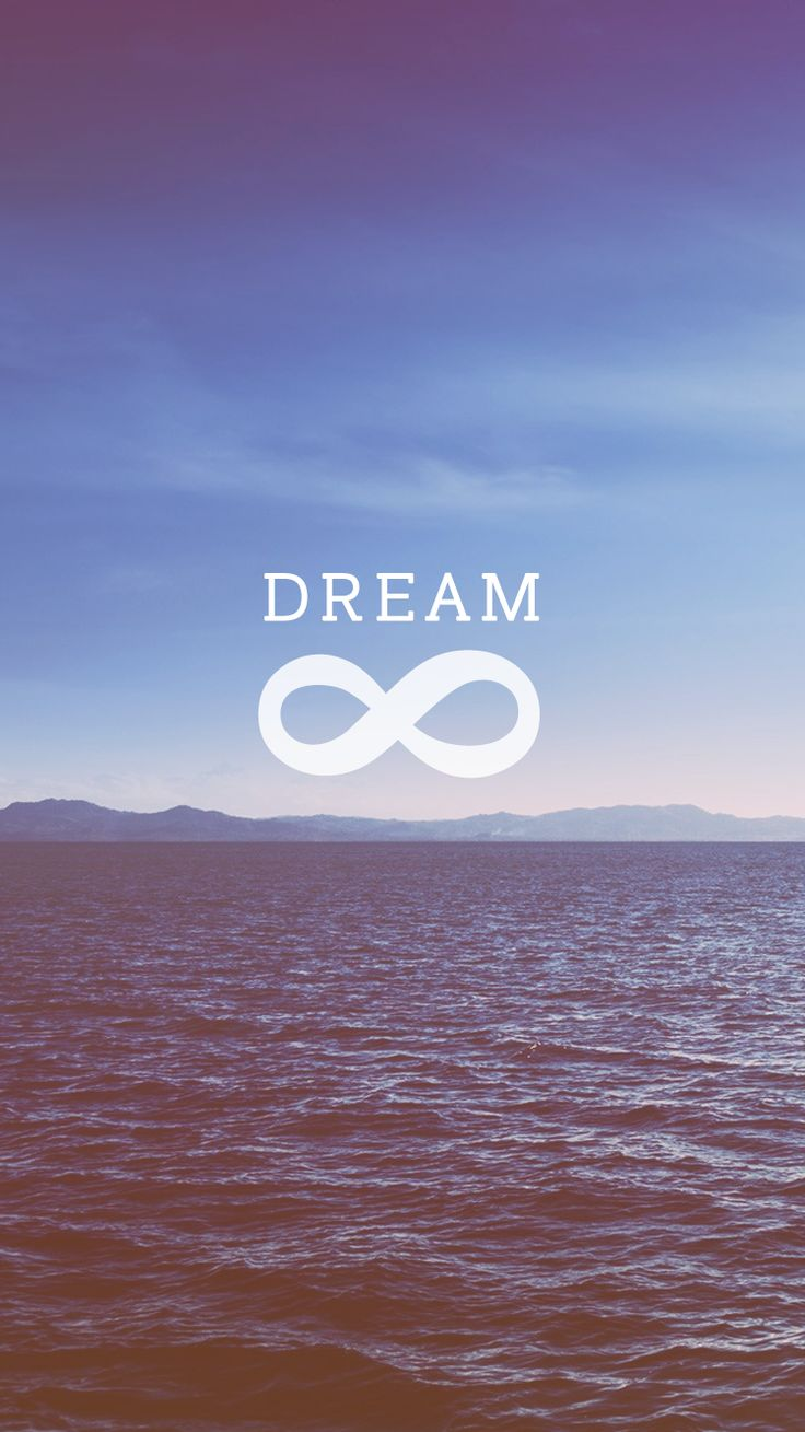 Dream + Infinity | Open Ocean iPhone Wallpaper