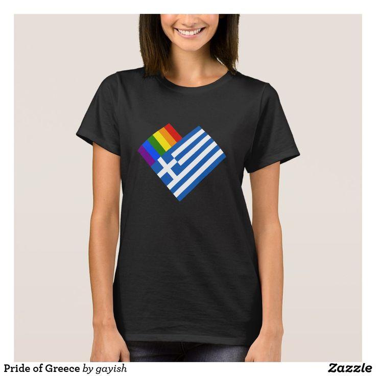 Pride of Greece t-shirt.  #gaypride #gayrights #tshits #prideshirt #pride #flags #heart #greek #hellas #gayhellas #gaygreek