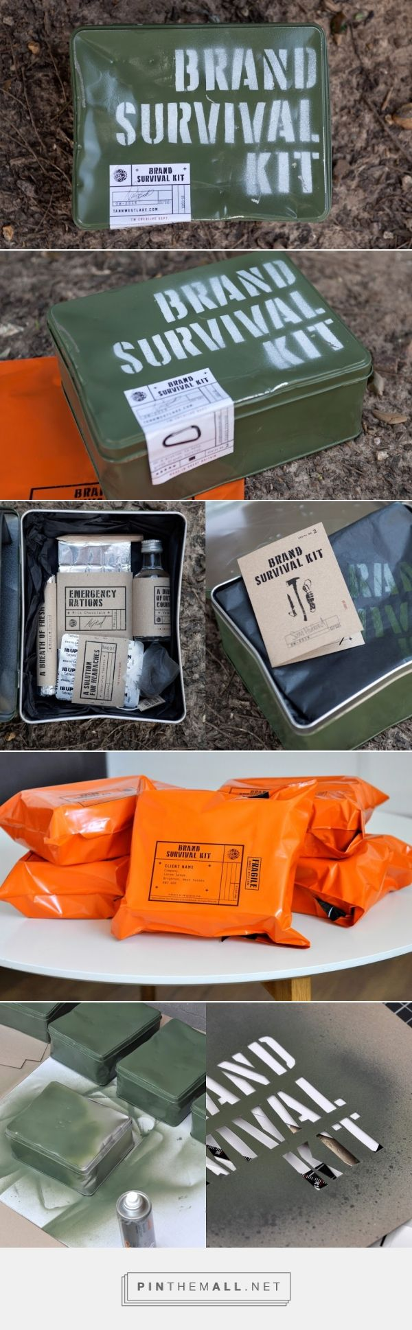 Do you need one? Brand Survival Kit design by Tann Westlake (UK) - http://www.packagingoftheworld.com/2016/06/brand-survival-kit.html