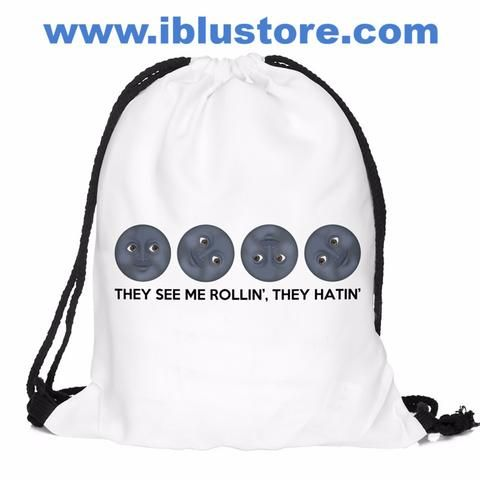 *^ Funny shoestring gym bags