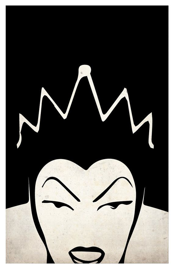 Villains poster set Maleficent The Evil Queen by PosterForum