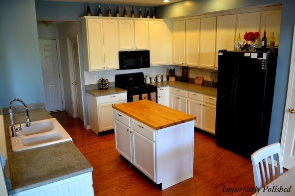 Butcher Block Countertops Price : ... Countertops Tutorials, House, Counter Tops, Black Appliances, White