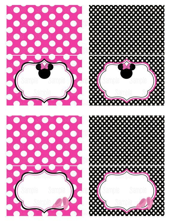 Free Printable Minnie Mouse Food Labels