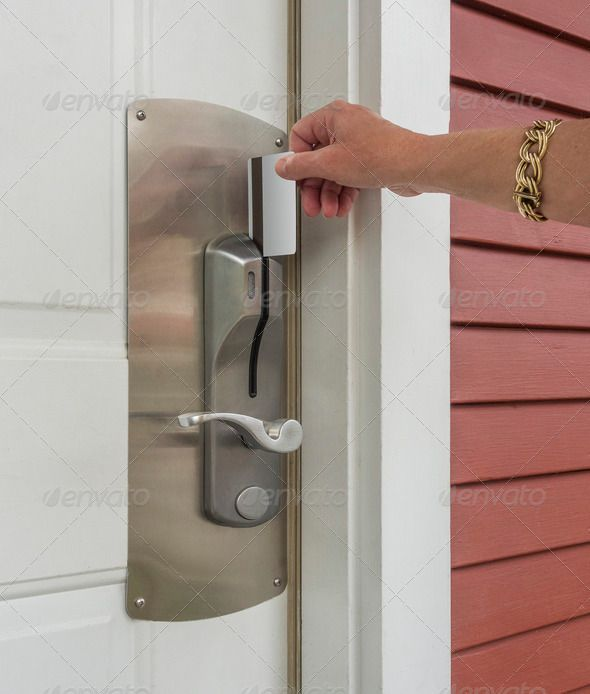 Security entrance door lock. http://photodune.net/item/security-entrance-door-lock/4780894