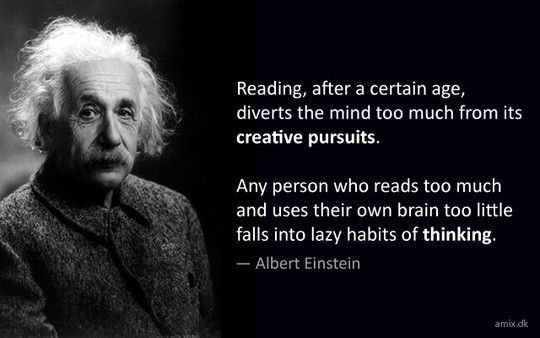 Albert Einstein Reading Quote: 37 Best Author Quotes And Comments Images On Pinterest