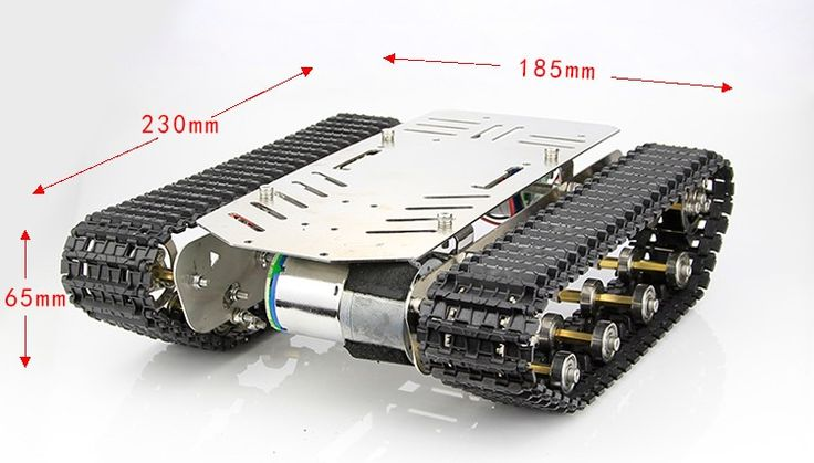 Metal stainless steel not aluminium Tank Track with shock absorber damping Smart robot Chassis DIY kit strong