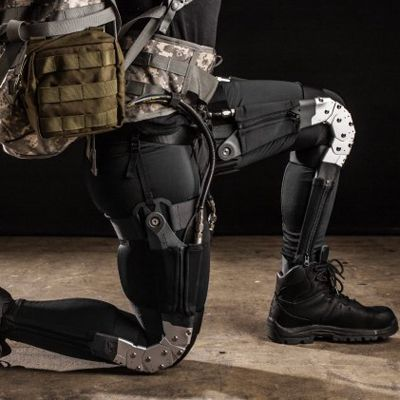Wearables where allways pioneered by DARPA. This exoskeleton suit could help soldiers run a 4-Minute Mile. Again it leaves you wonder: should we robotise soldiers or robotise the army?