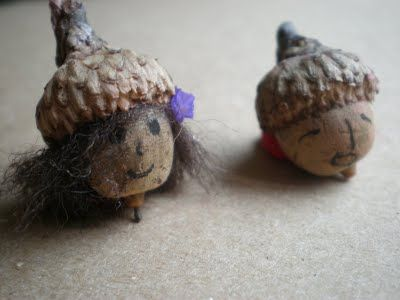 acorn craft, acorns.