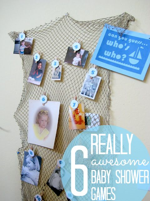 "6 really awesome (non cheesy) baby shower games! MY FAVS: ""Who Done It?"" and ""Who's Who?"""