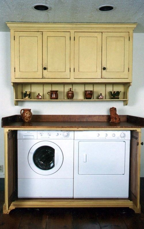 The 25 best primitive cabinets ideas on pinterest for Country laundry room