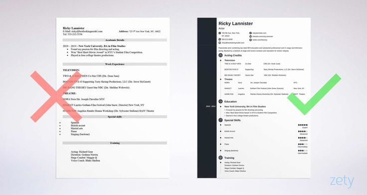Beginner voice over resume fresh acting cv template letter