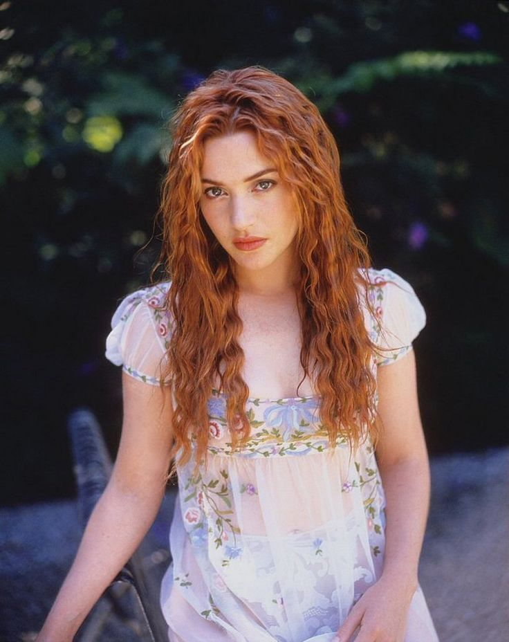 Kate Winslet in 1996; she's gorgeous then, and she still is now! Loved her hair in Titanic :)