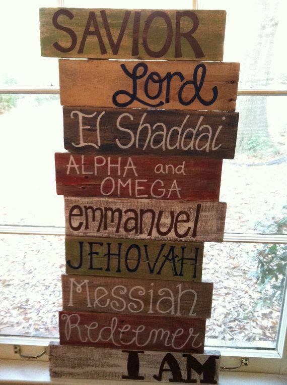 Pallet Art  Bible Verse Series Names of God by HollysHobbiesTN, $65.00
