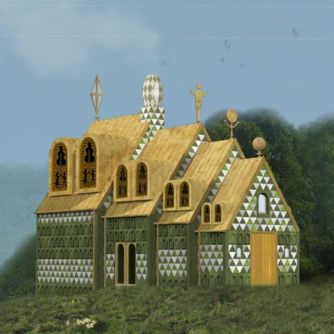 Architects FAT have teamed up with artist Grayson Perry to design a house inspired by fairytales on the east coast of England