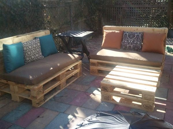 Pallet bench ideas.