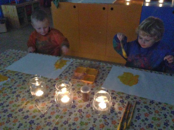 """Welkom in ons kleuterklasje! : Thema: """"Licht en donker!!"""""""