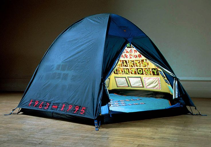 Tracey Emin - Everyone I Have Ever Slept With 1963 - 1995 1995 Appliquéd tent, mattress and light 122 x 245 x 214 cm