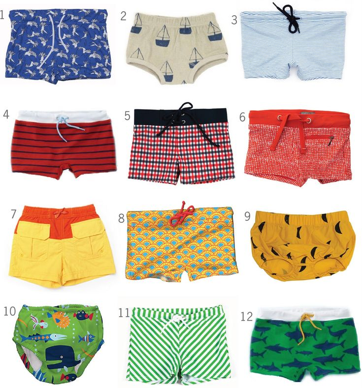 Cutest little swim trunks!! (And to think I'm going to actually be looking for a pair or two of these next summer ... CRAY.)