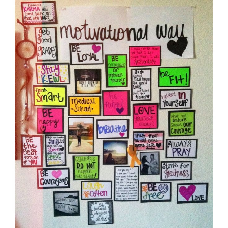 Alicia's motivational board. #motivation #inspiration #determination