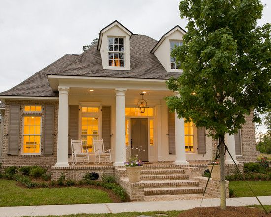 Traditional exterior new orleans and brick design on for Traditional brick homes