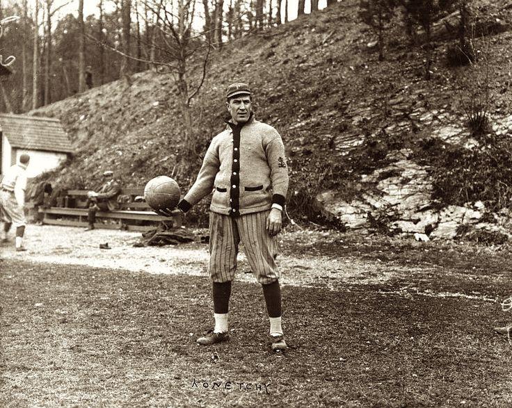 Ed Konetchy - Pittsburgh Pirates. Spring training in Arkansas (April 8, 1914)