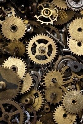 Clock parts and gears. I want.bunch of these to make steampunk stuff.