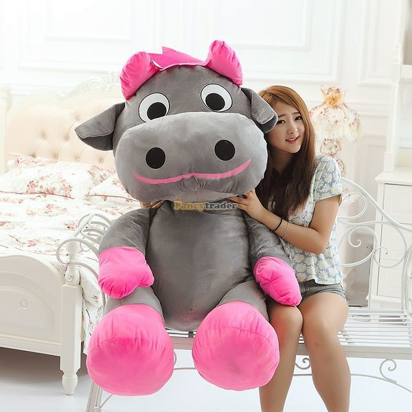 Fancytrader 2015 55'' / 140cm Super Soft Stuffed Cute JUMBO Grey Cow Toy, Nice Gift for Babies and Kids, Free Shipping FT50152 #Affiliate