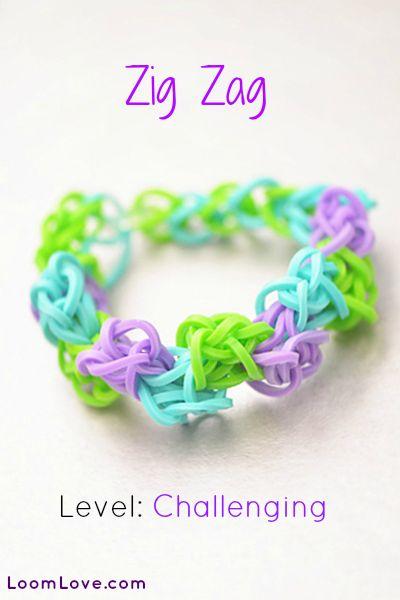 How to Make a Zig Zag Rainbow Loom Bracelet #rainbowloom