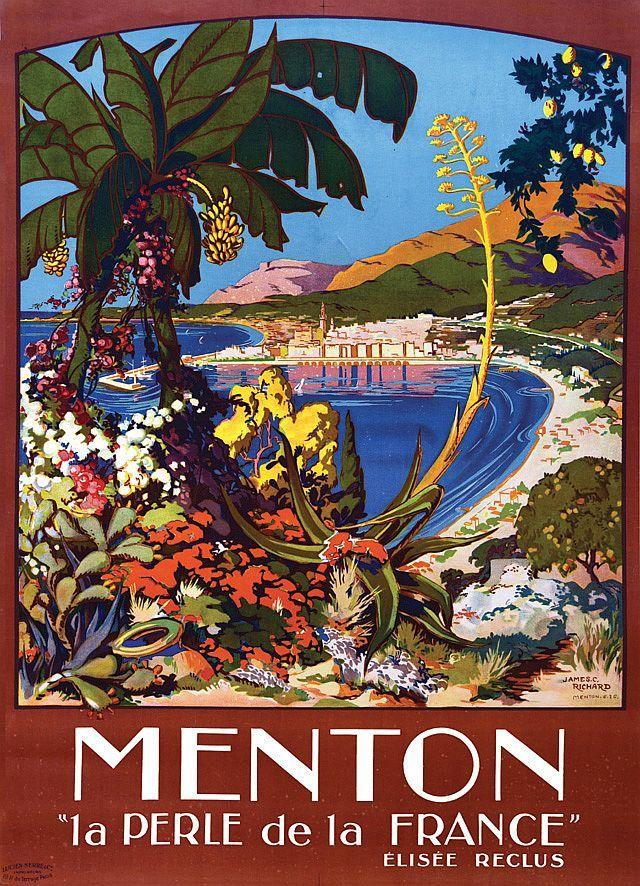 ✨ James C. Richard - Menton, la Perle de la France, PLM 1926. Lucien Serre & Cie Paris [1]