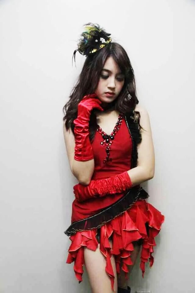 "Nabilah Ratna Ayu Azalia (JKT48) wear costume for song titled ""Junjou Shugi"""