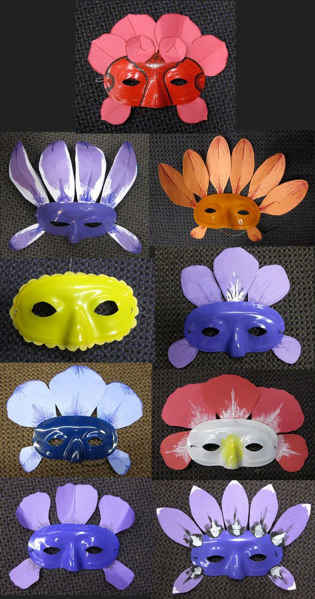 Alice in Wonderland Talking Flowers | Alice in Wonderland Flower Masks by TheNaryRazberry on deviantART