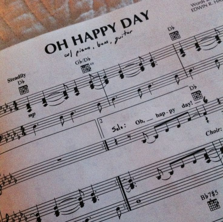 All That Jazz Sheet Music Piano: Oh Happy Day Sheet Music From Sister Act 2