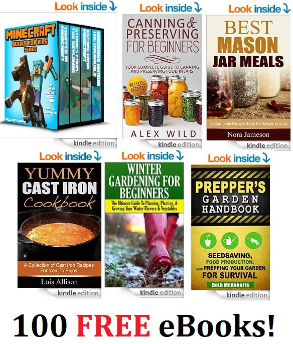 100 FREE eBooks Including Canning, Minecraft For Kids, Cast Iron Cooking & More!! - http://couponingforfreebies.com/100-free-ebooks-including-canning-minecraft-kids-cast-iron-cooking/