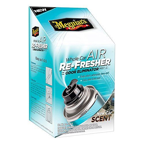 Meguiar`s ME G16402 Air Re-Fresher Mist New Car Scent, 59 ml: Destructeur d'odeur idéal pour se débarrasser définitivement des odeurs de…