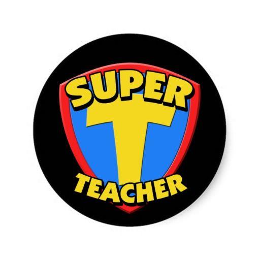 Every Superhero Logo | Super Teacher Sticker from Zazzle.com