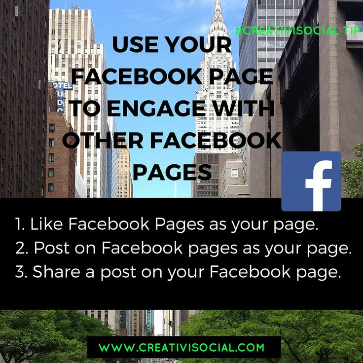 Use your Facebook Page