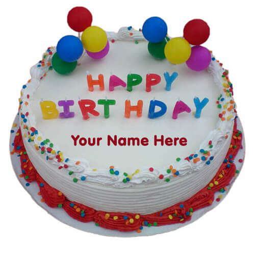 Birthday Cake With Name Editor Online Free Happy