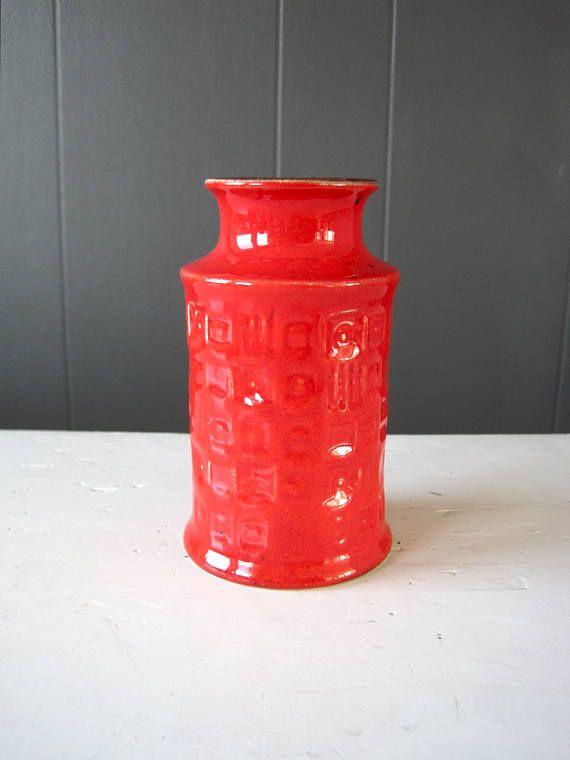 Vintage Bay Keramik Pottery Vase West German Ceramic Dark