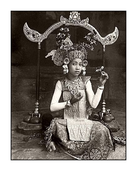 Young balinese dancer date and photographer unknown