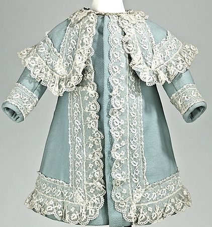 Girl's Coat 1885, American, Made of wool, linen, and lace