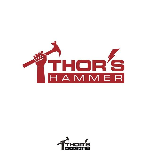 Create a unique logo for a construction company named Thor's Hammer by eutographics