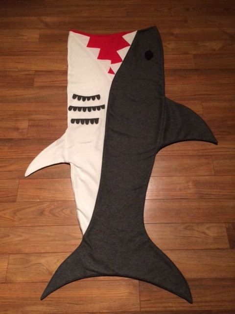 Original Shark Attack Blanket by RusticSunsetBoutique on Etsy