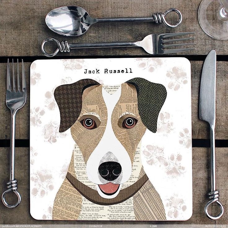 Jack Russell personalised Placemat/Coaster by SimonHartArtist on Etsy https://www.etsy.com/listing/231172079/jack-russell-personalised