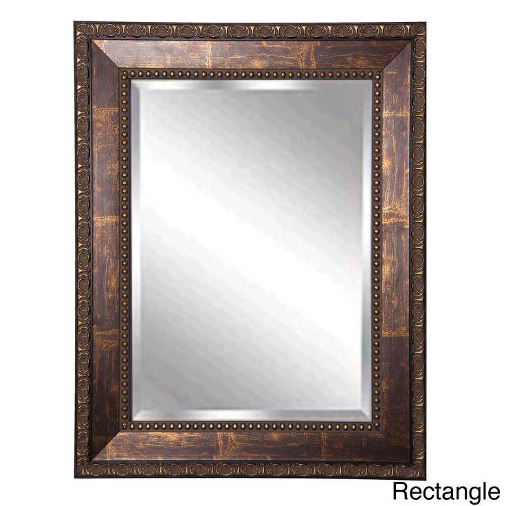 American Made Rayne Roman Bronze Wall Vanity Mirror 335 X 375 Rectangle