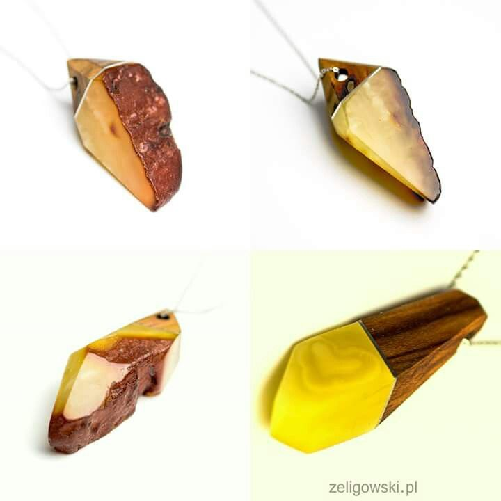 #amber #wood #silver