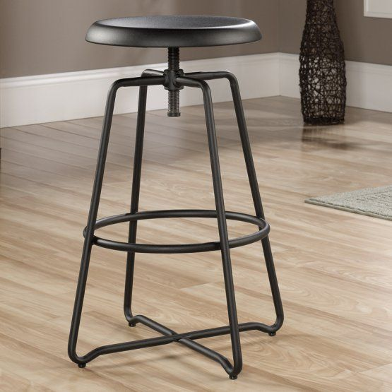 Sauder Woodworking Carson Forge Adjustable Counter Stool