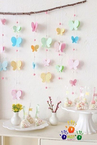 Летний декор с бабочками 1